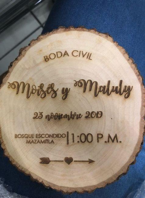 Letreros e invitaciones para boda civil, listos!! 2