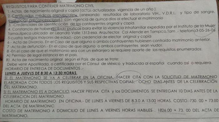 Requisitos boda civil tampico foro tamaulipas - Tramites para casarse por lo civil ...