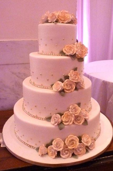 Cuanto es masomenos el costo de un pastel de bodas $$$ chicas - 1