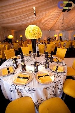 Decoraci n de sal n en amarillo foro organizar una boda - Decoracion salon amarillo ...