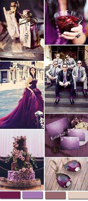 Purpura color en tendencia 2017 - Foro Organizar una boda - bodas.com.mx