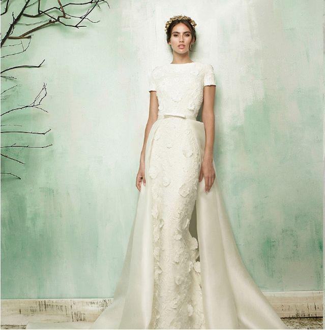 Llevar dos vestidos de novia