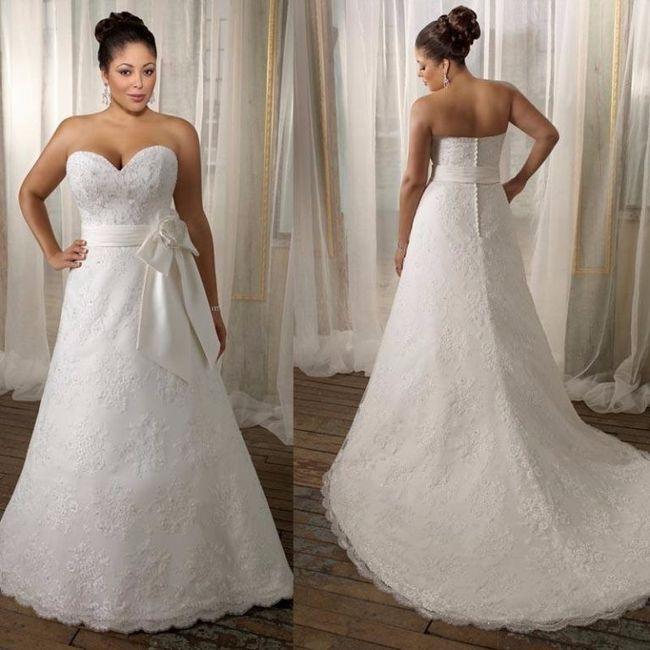 Vestidos de novia sencillos para mujeres gorditas