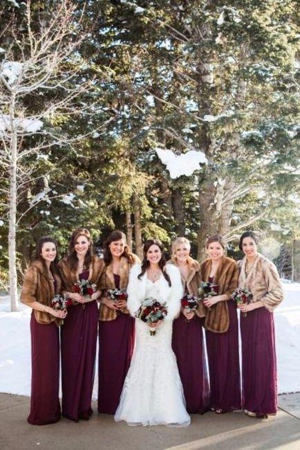 Vestidos damas de honor invierno 2019