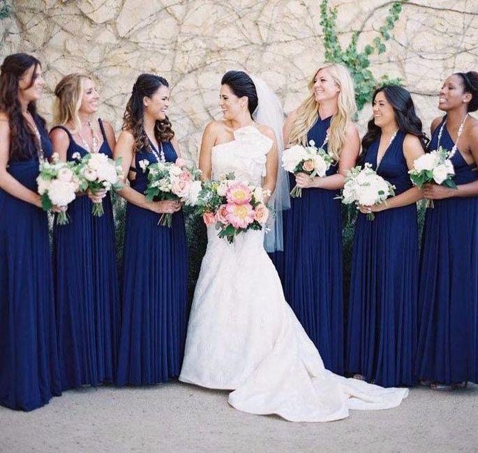 3415826744 Vestidos de damas de honor en azul rey – Vestidos baratos
