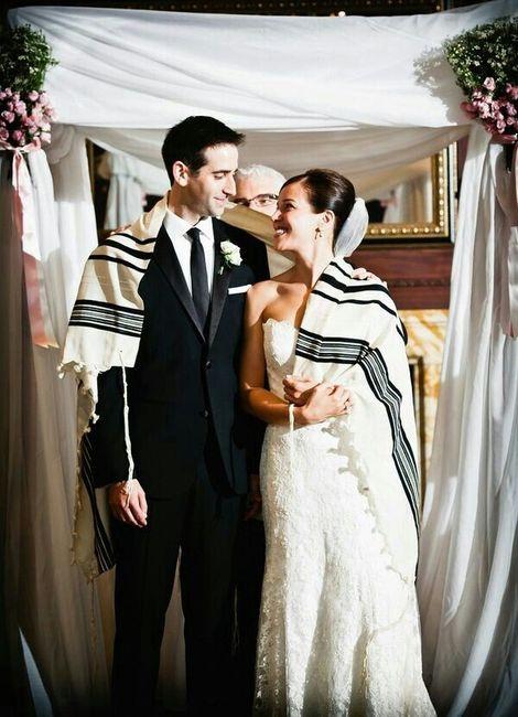 Matrimonio Judio : Talit judio remplazando el lazo foro organizar una boda