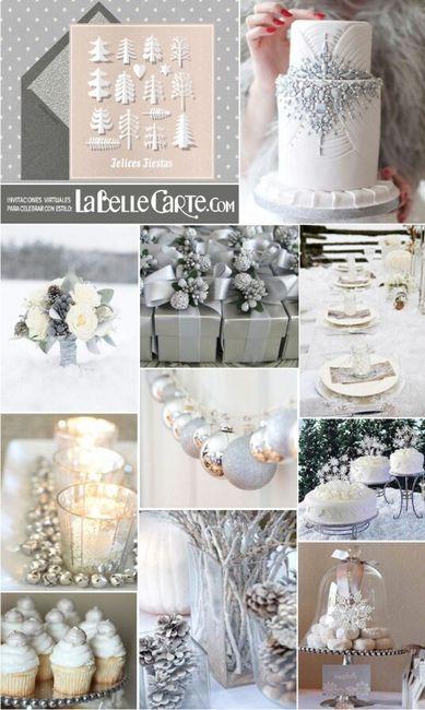 Combinaciones de colores en blanco y plata foro - Decoraciones en color plata ...