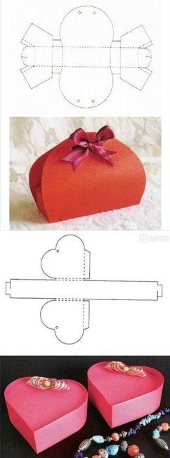 Moldes para cajitas armables foro manualidades para bodas - Manualidades regalo boda ...