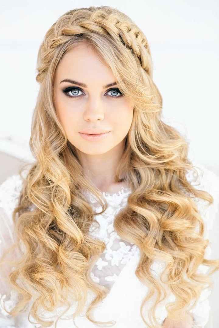 peinado espectacular de novia