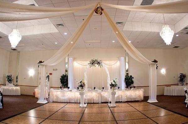 decoración salón telas - foro organizar una boda - bodas.mx