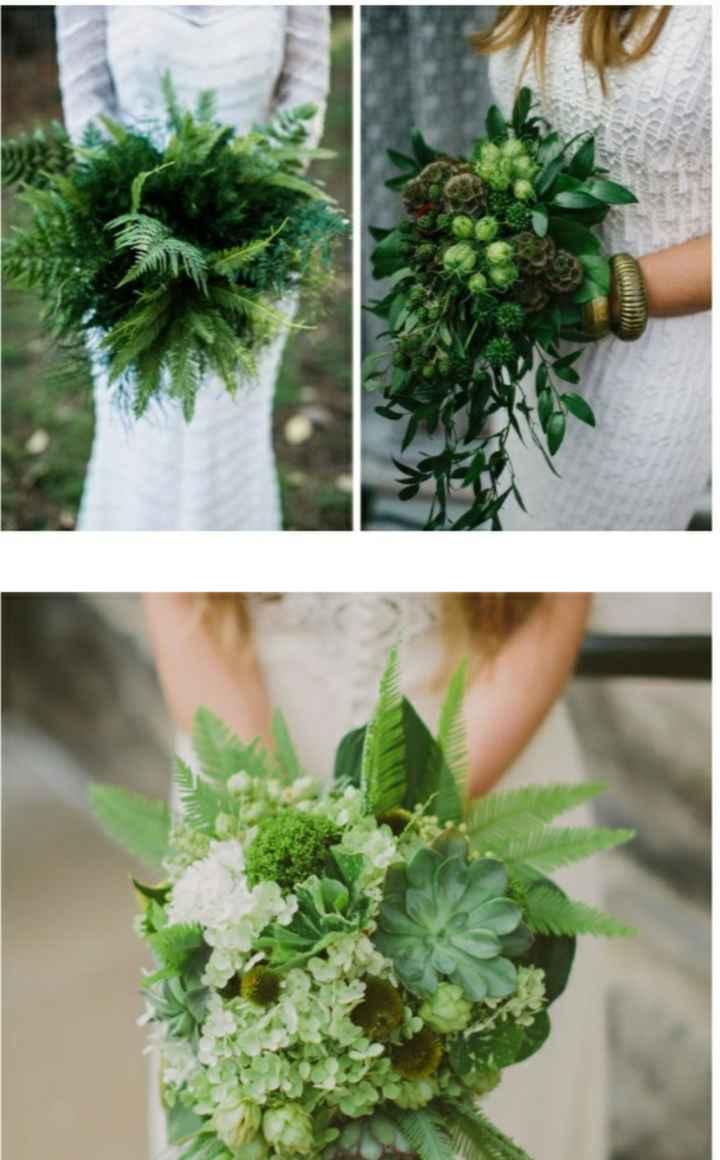¿Te atreverías usar un ramo verde? 🌈 - 3
