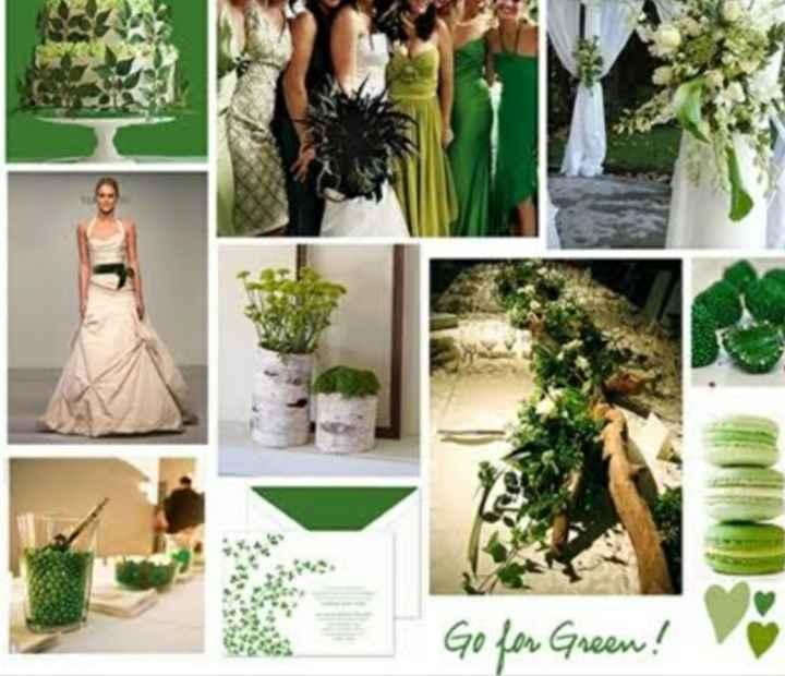 Decoracion en verde 🌈 - 1