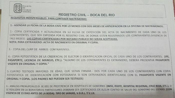 Requisitos y precio civil veracruz pto y boca del rio foro veracruz - Requisitos para casarse ...