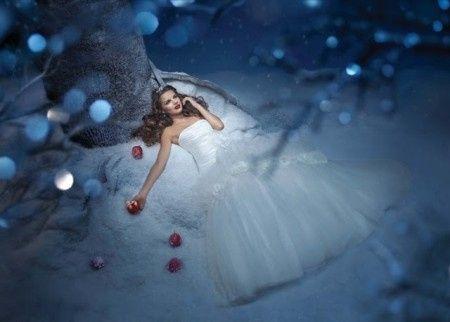 Sonar con vestido de novia y sin zapatos