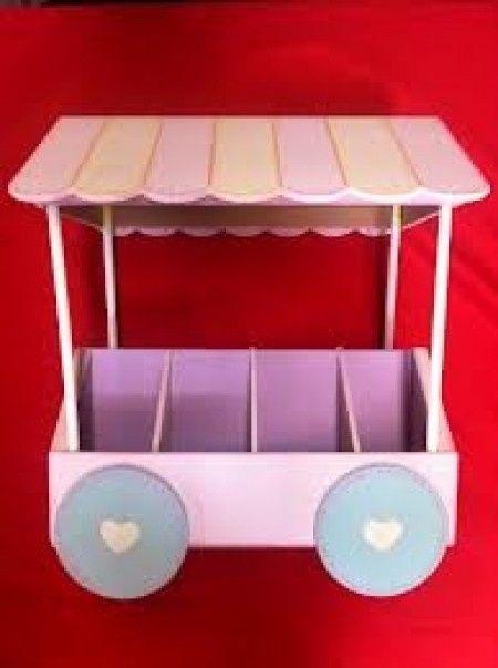 Rueda de la fortuna y mini carrito para mesa de dulces - Ruedas para mesa de centro ...