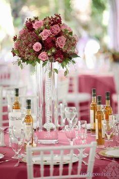 Arreglos De Mesa Florales Color Vino Tinto Foro Organizar