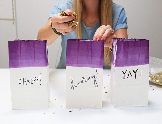 Diy bolsitas de confeti foro manualidades para bodas for Como hacer confeti