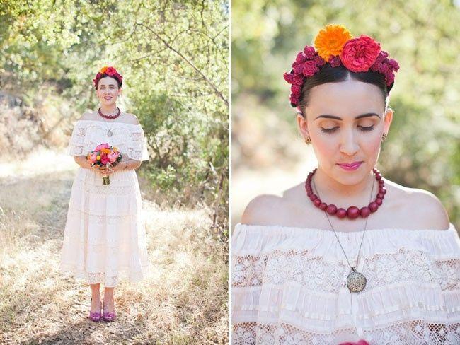 15 novias inspiradas en frida kahlo - foro moda nupcial - bodas.mx