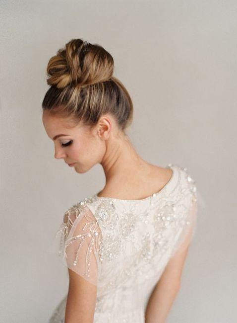 peinados recogidos altos tendencias para novias del