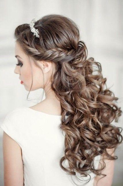 Peinados semi recogidos tendencias para novias del 2016 for Imagenes semirecogidos