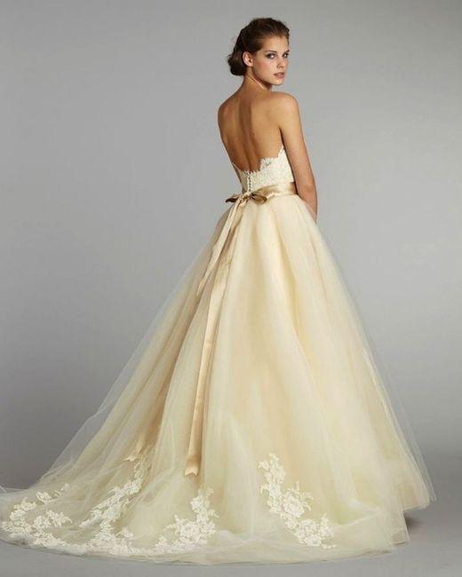 vestido de novia en color marfil, ¿sí o no?