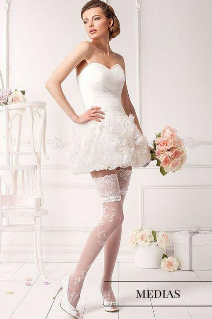 Medias para el vestido de novia