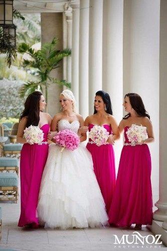 5 vestidos fucsia para damas - Foro Moda Nupcial - bodas.com.mx