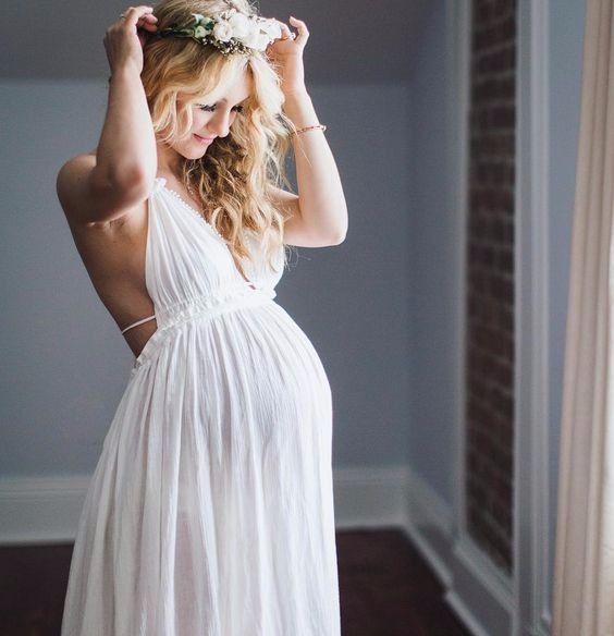 57ec2a248 7 vestidos para novias embarazadas