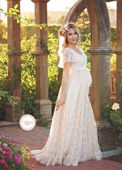 Vestidos de novia para embarazadas de 4 meses