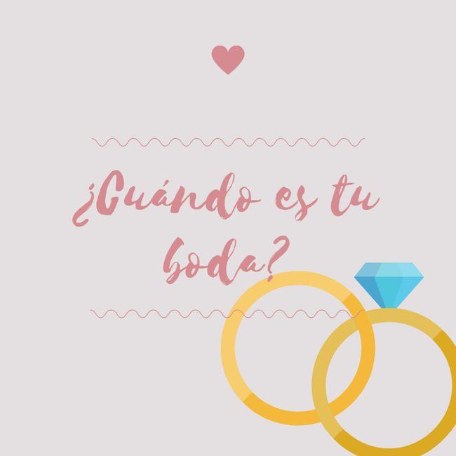 ¿Cuándo es tu boda? 💕 1