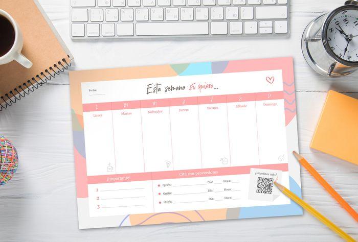 ¡Tenemos un planificador semanal para ti! 🎁✅ 1