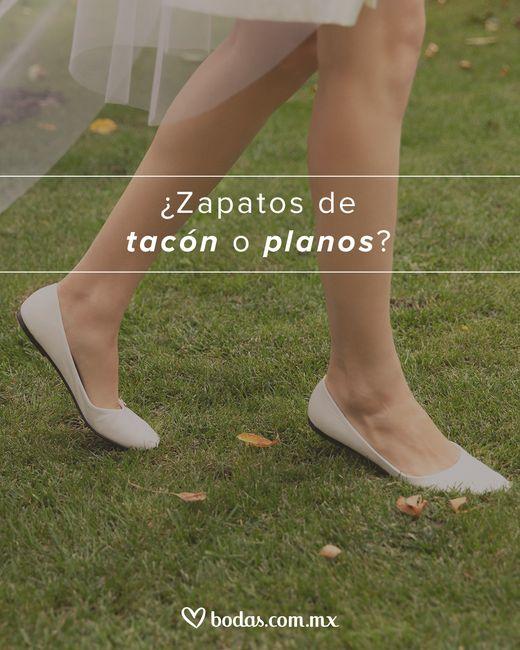 ¿Zapatos de tacón o planos? - 1