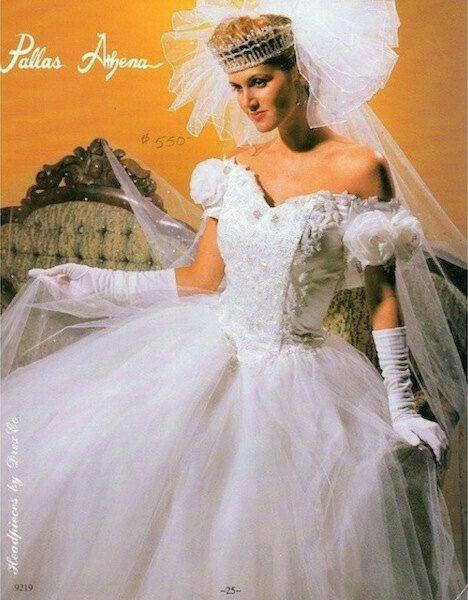 vestidos de novia 1990