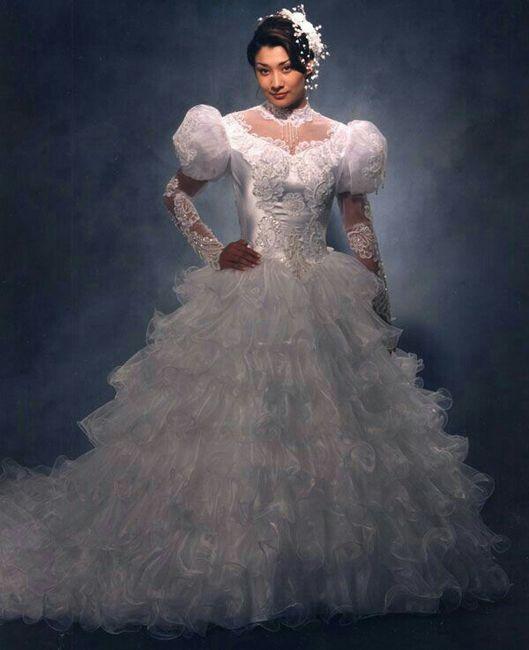 vestido de novia 1980