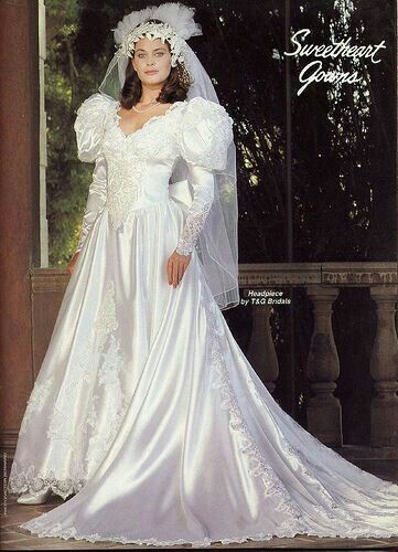 vestidos de novia 1980