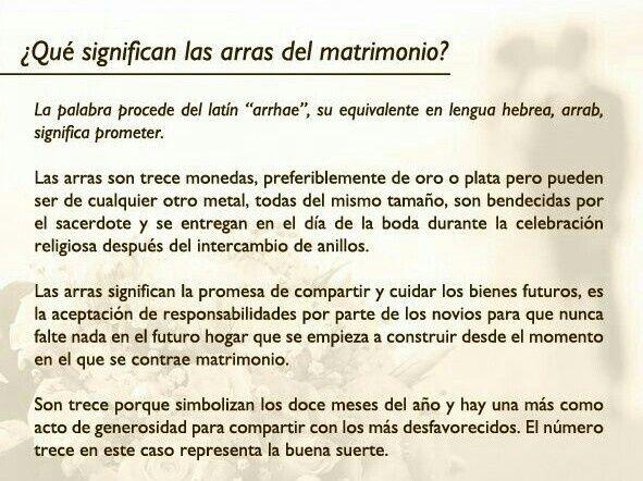 Matrimonio En La Biblia Significado : Significado de las arras boda