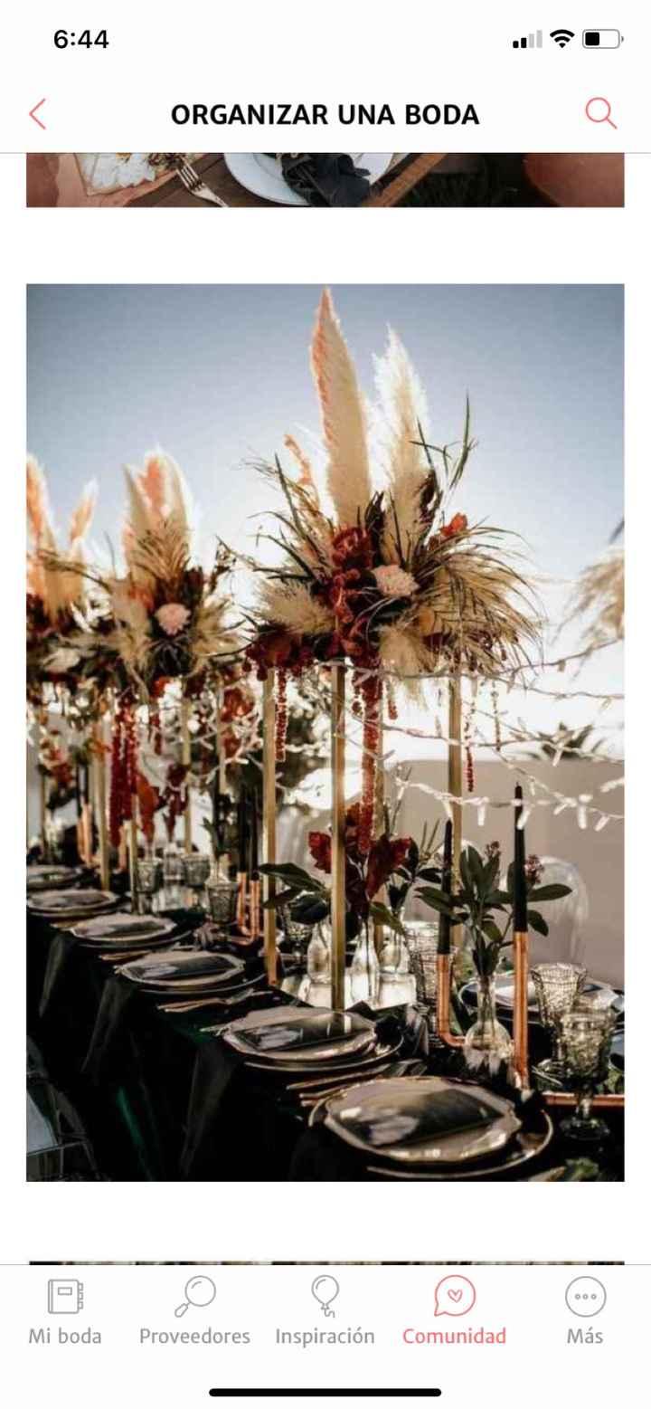 Hierba de las pampas como elemento clave en la boda - 1