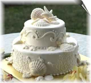 pastel para boda en playa