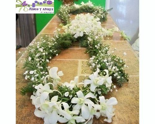 lazo de flores naturales