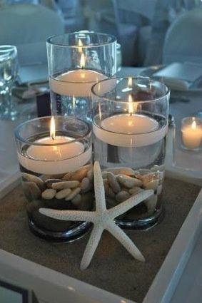 Centros de mesa para boda en playa - 1
