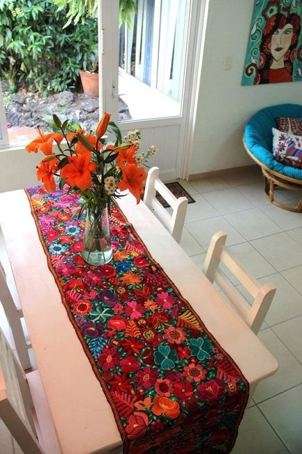 Ayuda por favor consejos para caminos de mesa mexicanos for Caminos para mesas