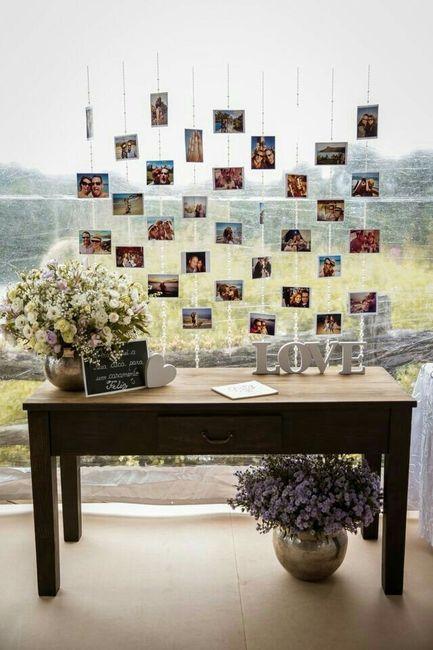 10 Centros de mesa hechos con fotografías - 1
