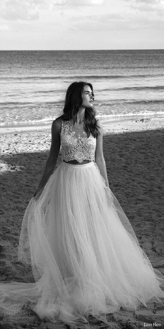 433a08484 Tendencias 2017  vestidos de novia de 2 piezas - Foro Moda Nupcial ...