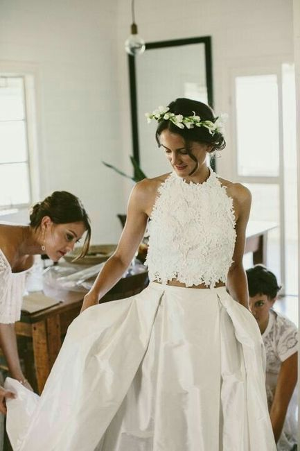342752f97 Tendencias 2017  vestidos de novia de 2 piezas - Foro Moda Nupcial ...