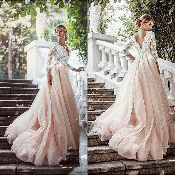 tendencias 2017: vestidos de novia de colores - foro moda nupcial