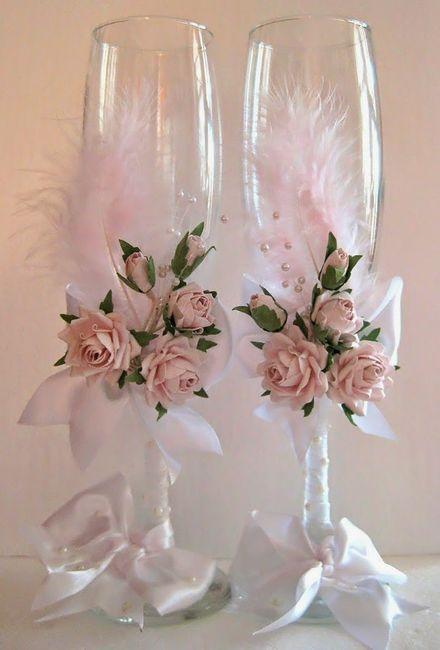 copas decoradas para brindis de boda fotos ceremonia nupcial comunidad. Black Bedroom Furniture Sets. Home Design Ideas