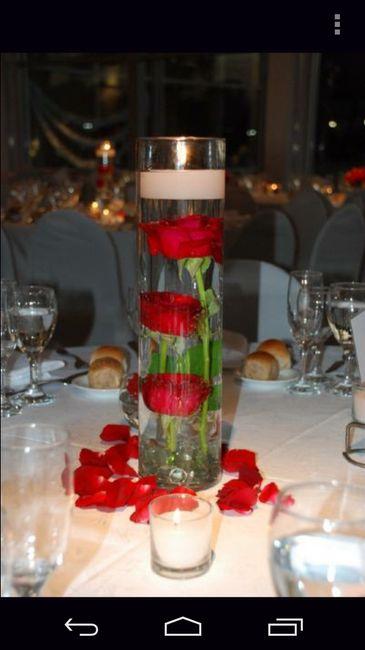 Centros de mesa de flores bajo el agua - 1