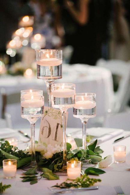 Centro de mesa: ¿flores o velas? 1