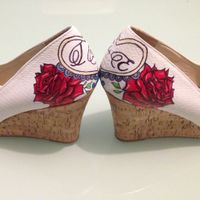 Boda civil rockabilly: mis zapatos pintados a mano! - 9