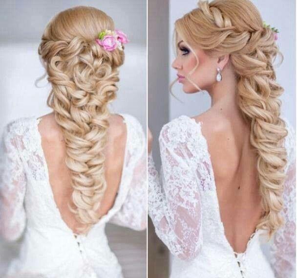 Peinados para novia vestido strapless